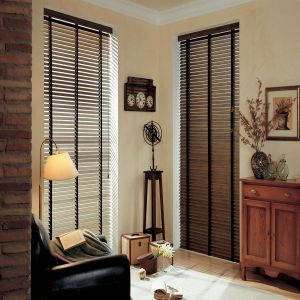 2 Distressed Wood Blinds