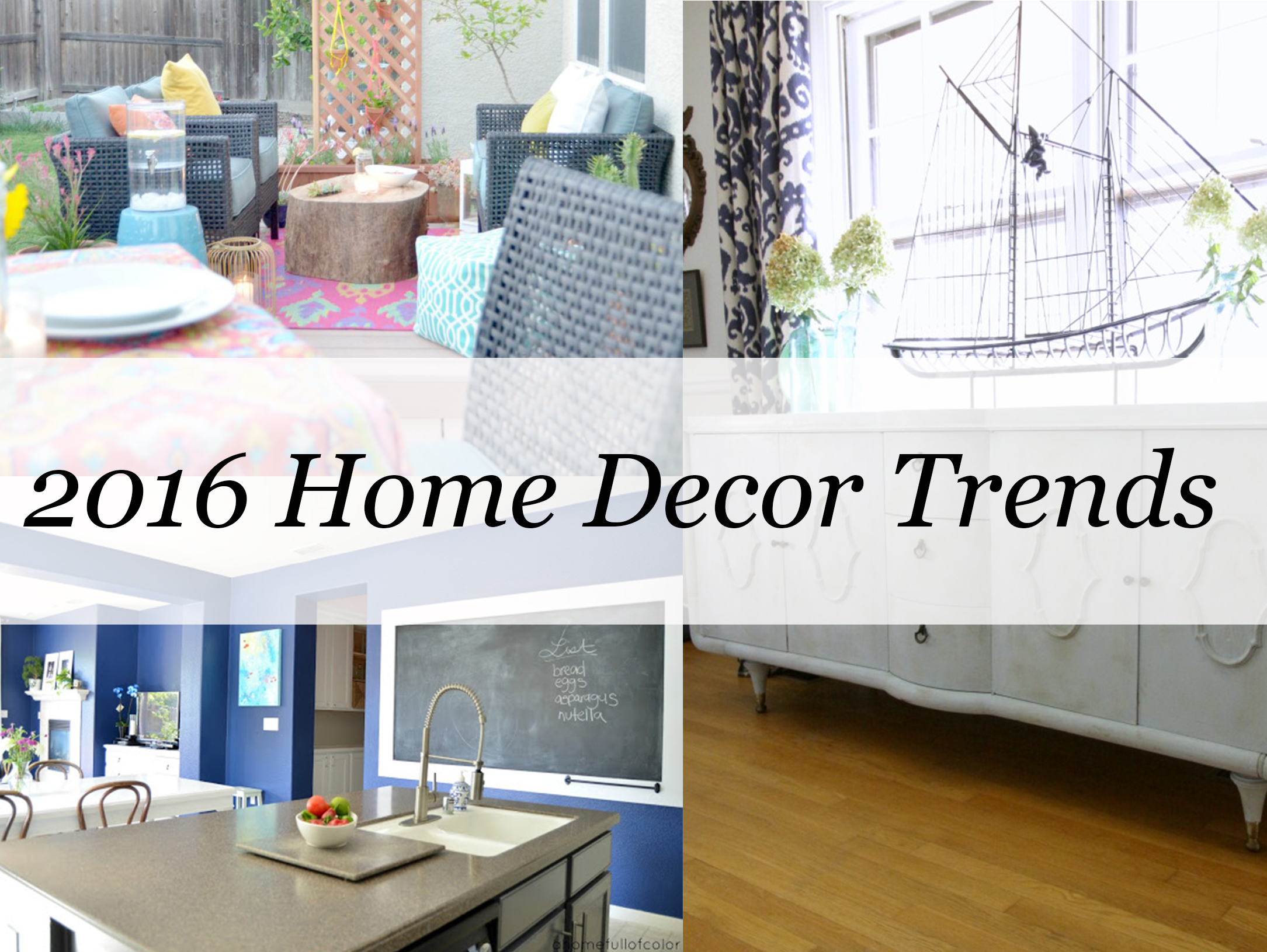 2016 Home Décor Trends