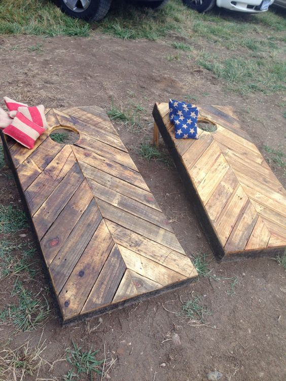 Create an Outdoor GAme Area with Horseshoes and Cornhold Boards