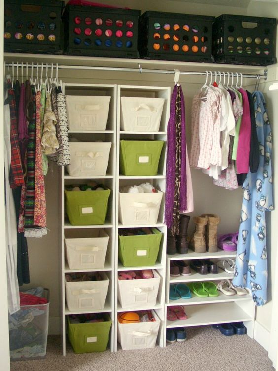 Organize closets and dressers for fewer hassles in the morning