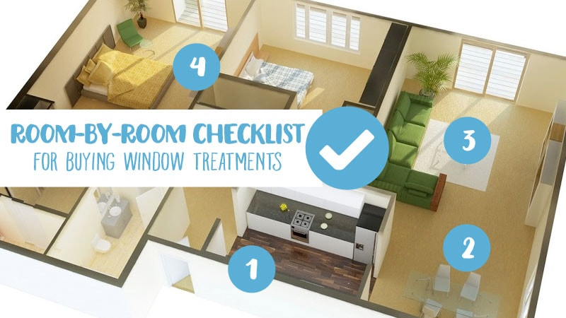 Checklist for Window Treatments by Room